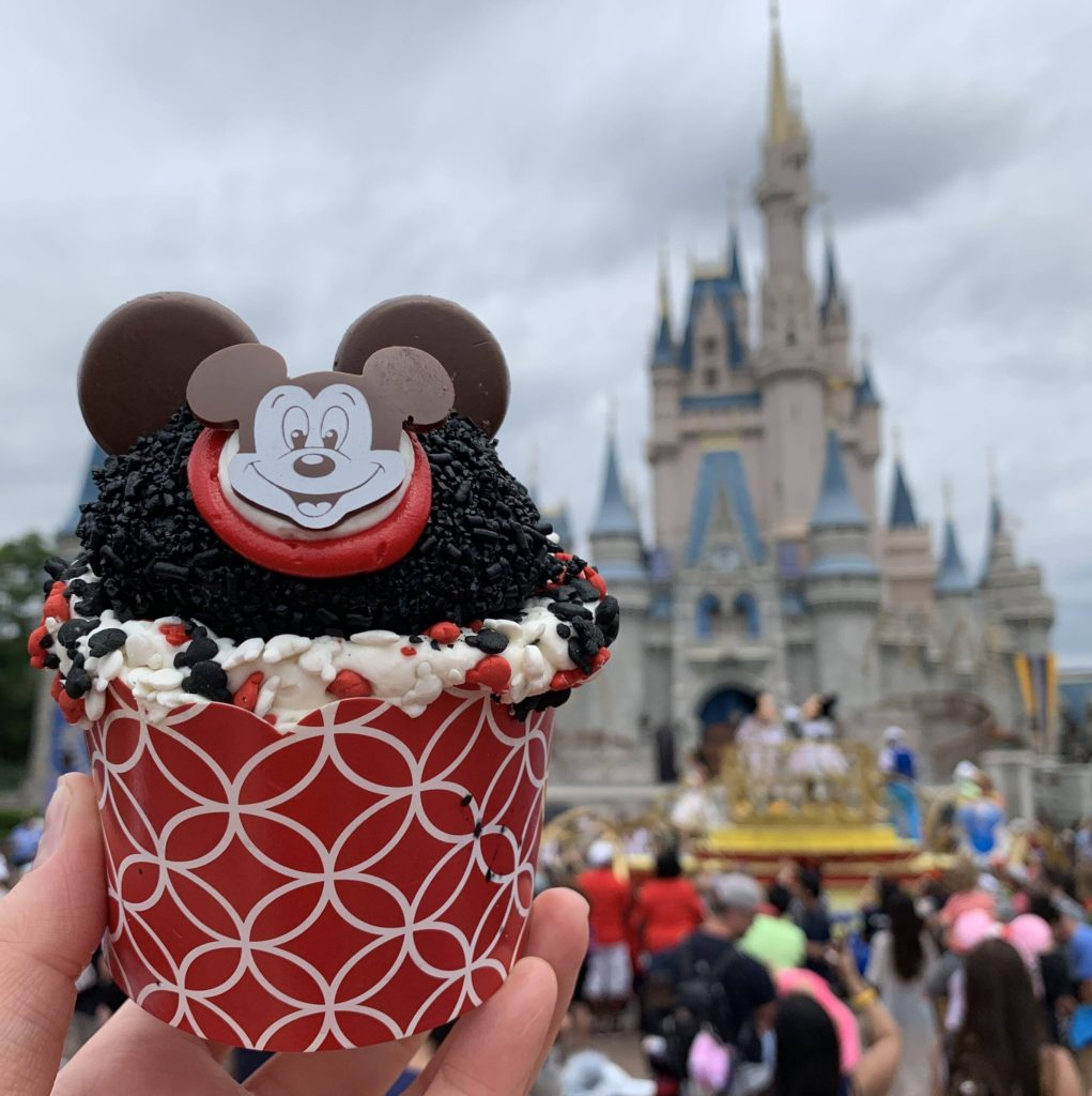 "The Mouseketeer Cupcake in front of Cinderella Castle in Magic Kingdom During the ""Get Your Ears On"" Celebration"