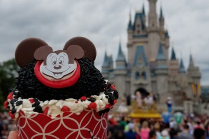The Mouseketeer Cupcake available at the Main Street Bakery in Front of Cinderella Castle in the Magic Kingdom
