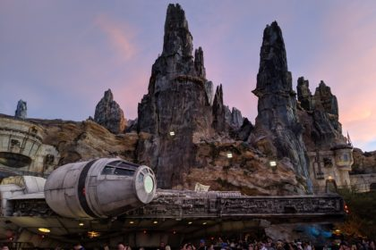 The Millennium Falcon in Star Wars: Galaxy's Edge in WDW